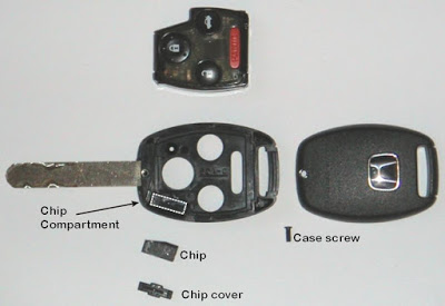 micro chip in key honda